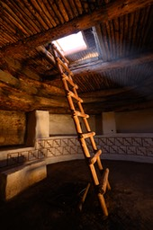 Down the ladder, into the Kiva