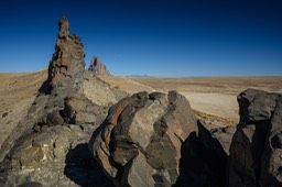 Looking down the fin to Shiprock
